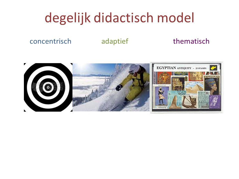 degelijk didactisch model concentrischadaptiefthematisch