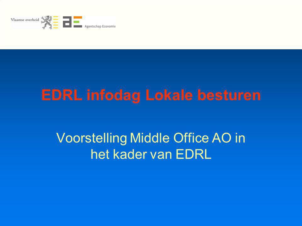 EDRL infodag Lokale besturen Voorstelling Middle Office AO in het kader van EDRL