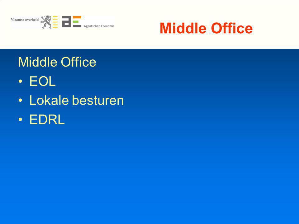 Middle Office EOL Lokale besturen EDRL
