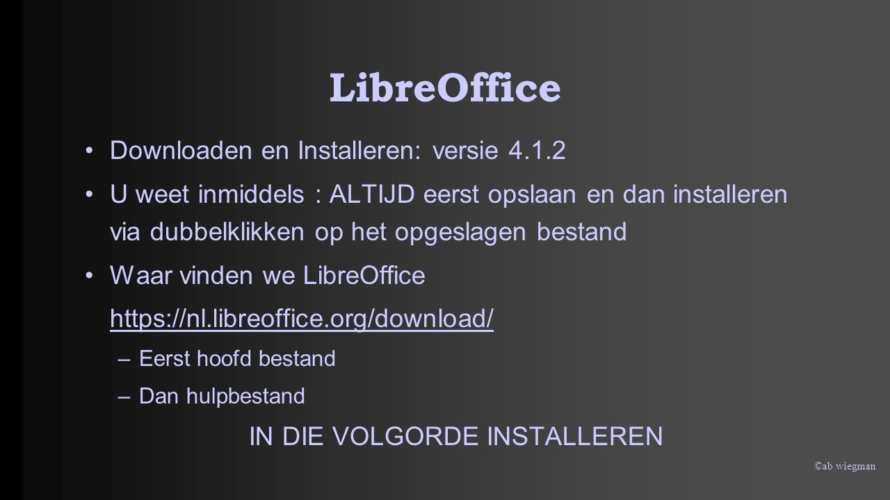 ©ab wiegman LibreOffice 1 2