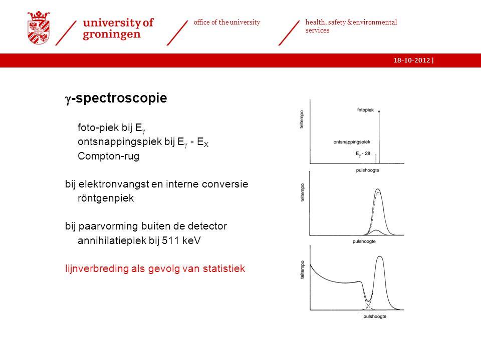 | office of the university health, safety & environmental services 18-10-2012   -spectroscopie o foto-piek bij E  o ontsnappingspiek bij E  - E X