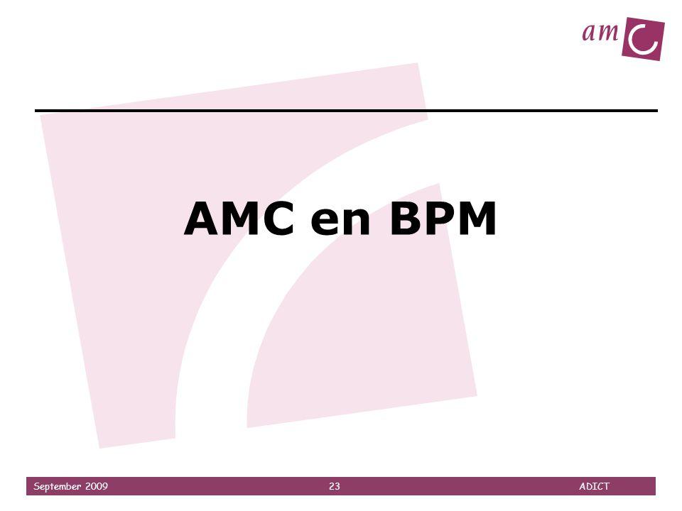 September 2009 23 ADICT AMC en BPM