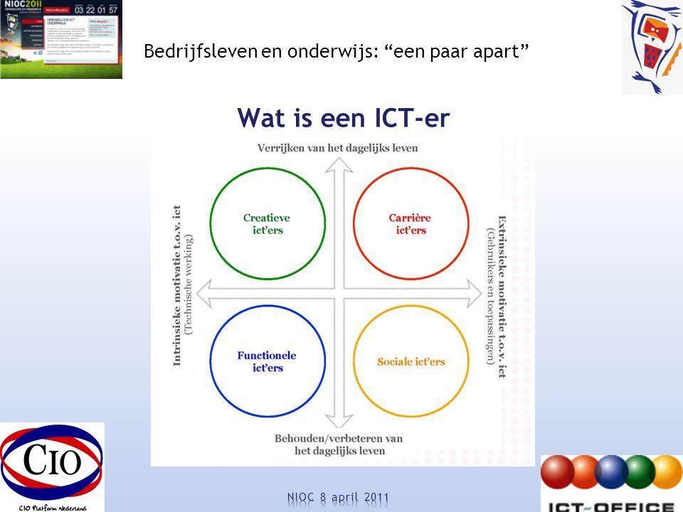 Bedrijfsleven en onderwijs: een paar apart Wat is een ICT-er