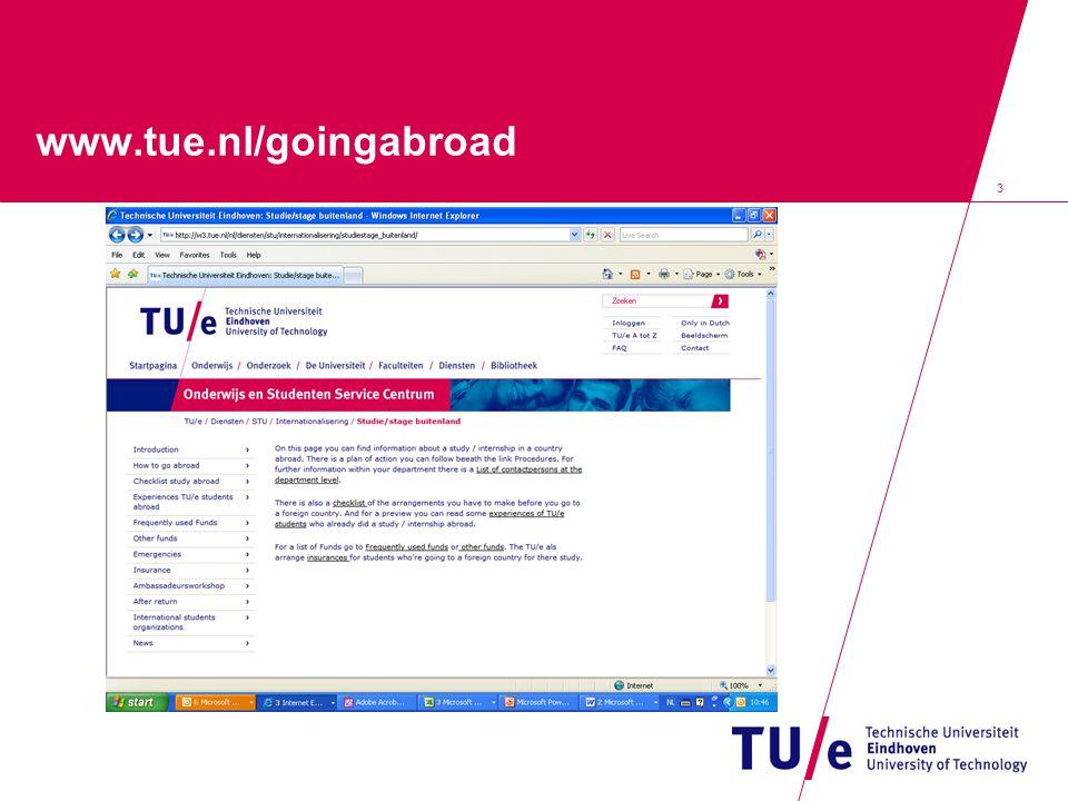 3 www.tue.nl/goingabroad