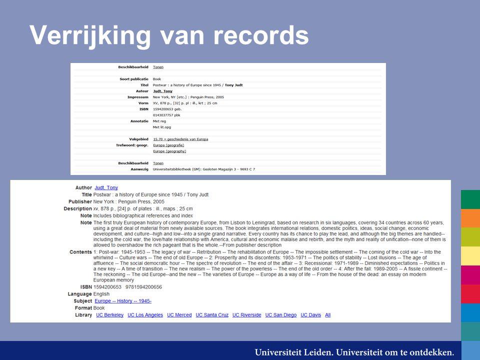 Verrijking van records