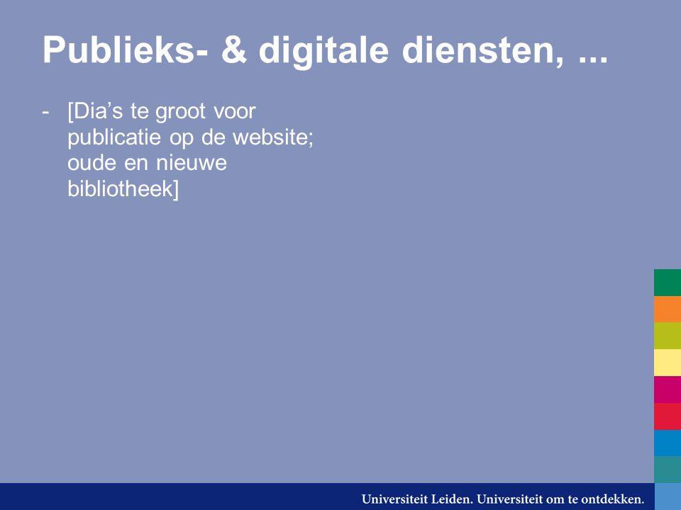 Publieks- & digitale diensten,...