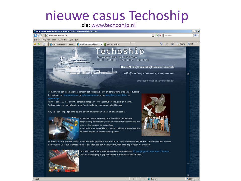 nieuwe casus Techoship zie: www.techoship.nlwww.techoship.nl