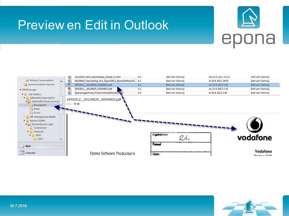 Preview en Edit in Outlook 18-7-2014