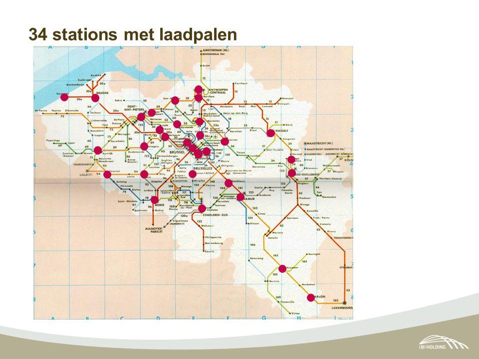 34 stations met laadpalen