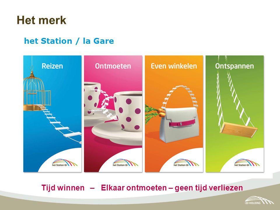 Het merk het Station / la Gare Tijd winnen – Elkaar ontmoeten – geen tijd verliezen