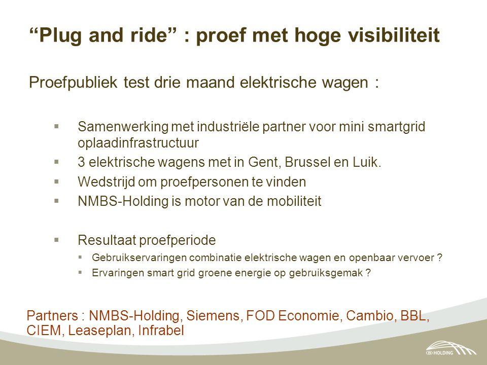 """""""Plug and ride"""" : proef met hoge visibiliteit Proefpubliek test drie maand elektrische wagen :  Samenwerking met industriële partner voor mini smartg"""