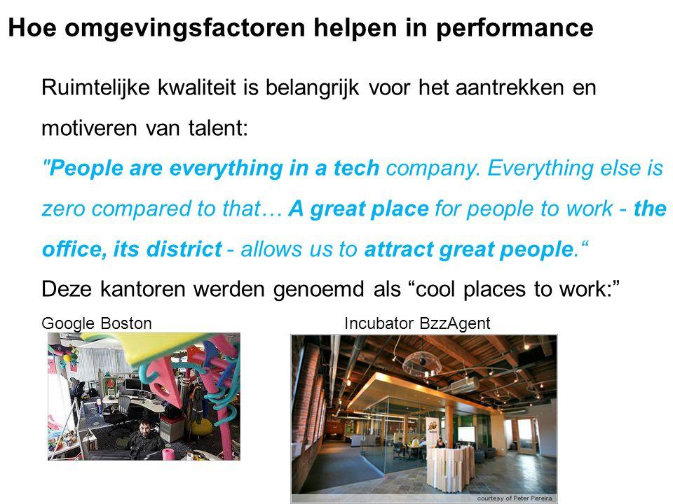 Ruimtelijke kwaliteit is belangrijk voor het aantrekken en motiveren van talent: People are everything in a tech company.