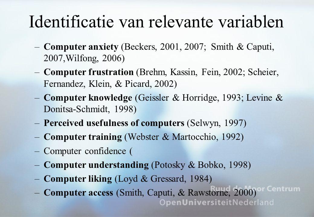 Onderlinge relaties tussen de variabelen Doyle, Stamouli, & Huggard, 2005: