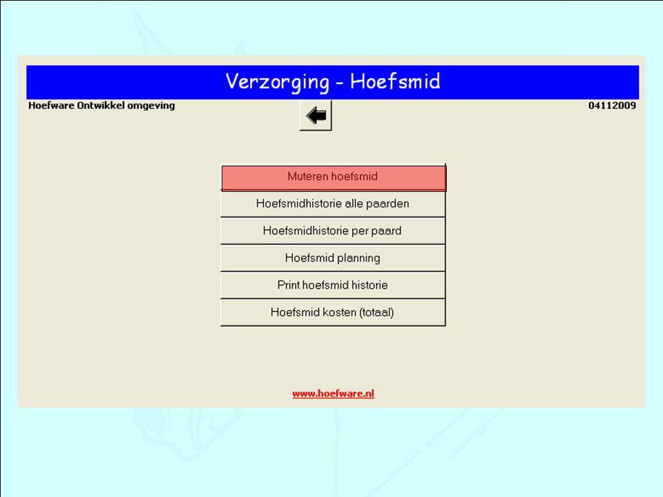 Hoefsmid - invoer