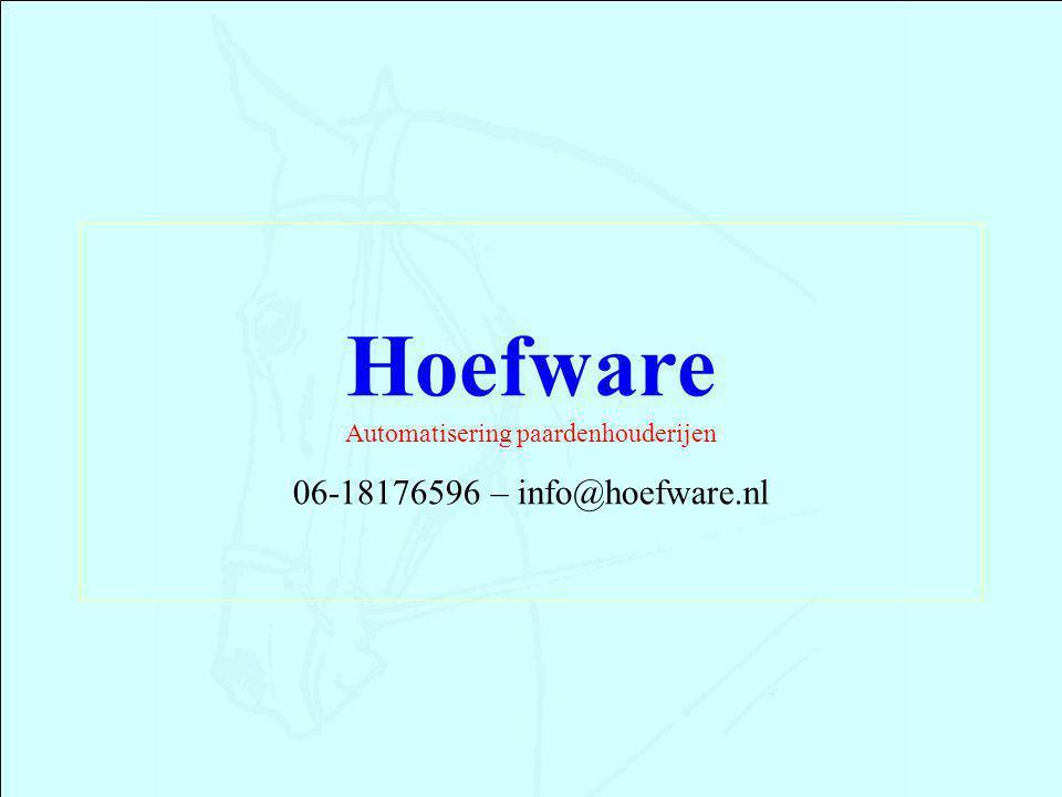 Hoefware Automatisering paardenhouderijen 06-18176596 – info@hoefware.nl