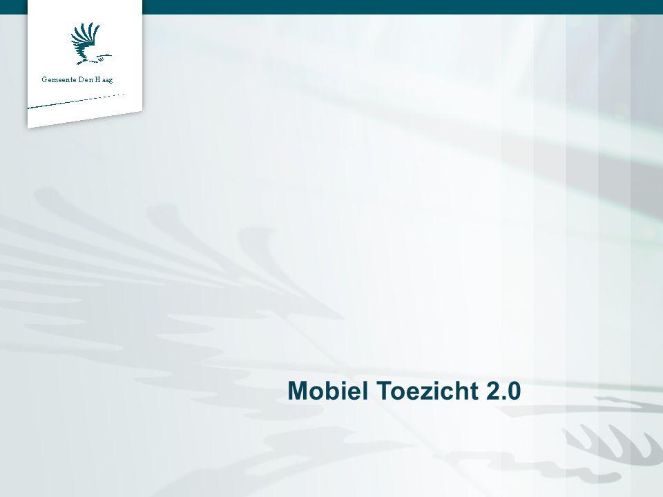 Introductie Vincent Weijermans Gemeente Den Haag Stadsdeelinspecteur Projectleider Mobiel Toezicht 2.0