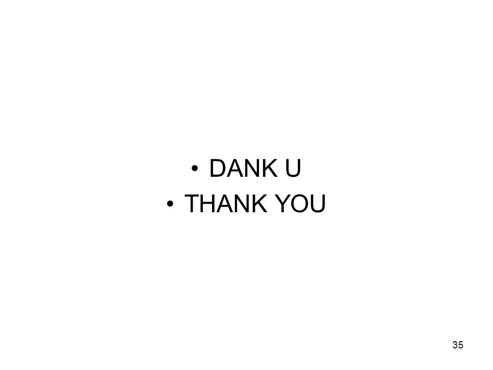 35 DANK U THANK YOU