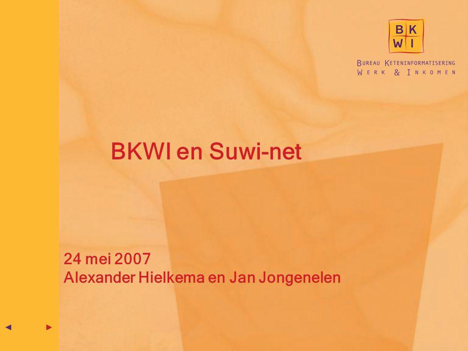 BKWI en Suwi-net 24 mei 2007 Alexander Hielkema en Jan Jongenelen