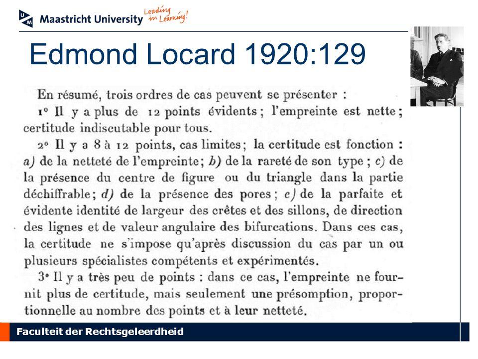 Faculteit der Rechtsgeleerdheid Edmond Locard 1920:129