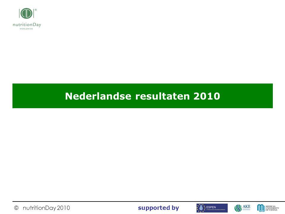 Nederlandse resultaten 2010