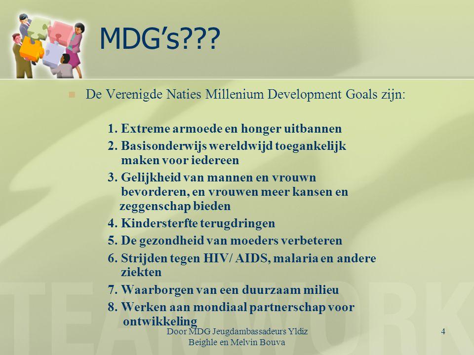 UN MDG YAP Betrokkenheid jongeren bij MDG's Betokkenheid Surinaamse jongeren in MDG's Belang Programma.