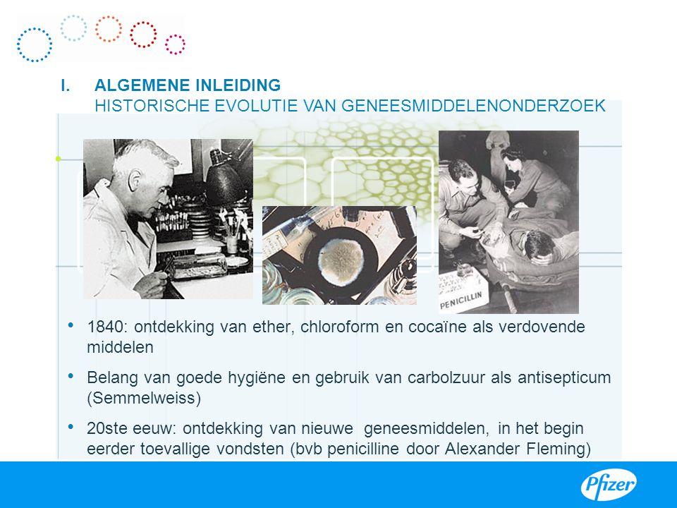 1840: ontdekking van ether, chloroform en cocaïne als verdovende middelen Belang van goede hygiëne en gebruik van carbolzuur als antisepticum (Semmelw