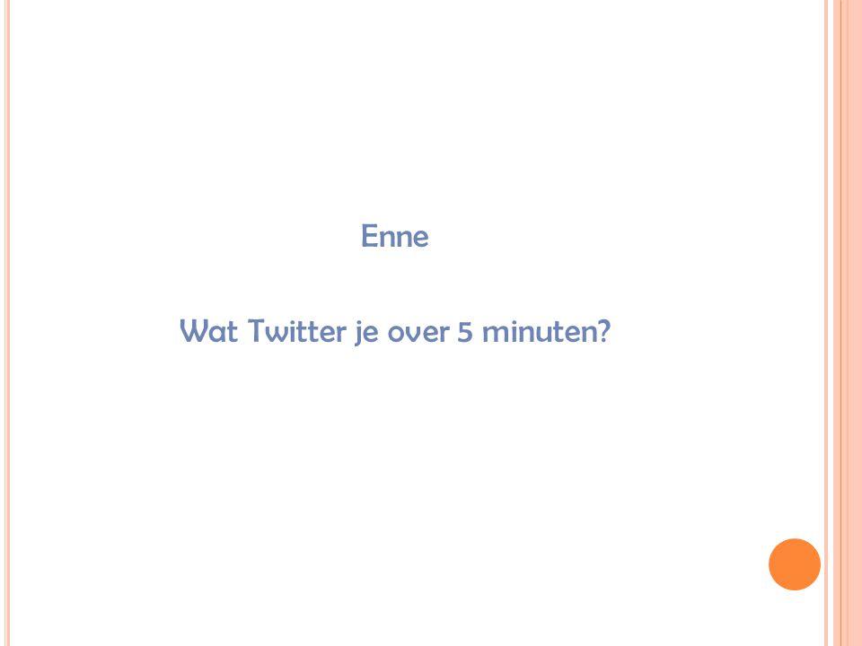 Wat Twitter je over 5 minuten?