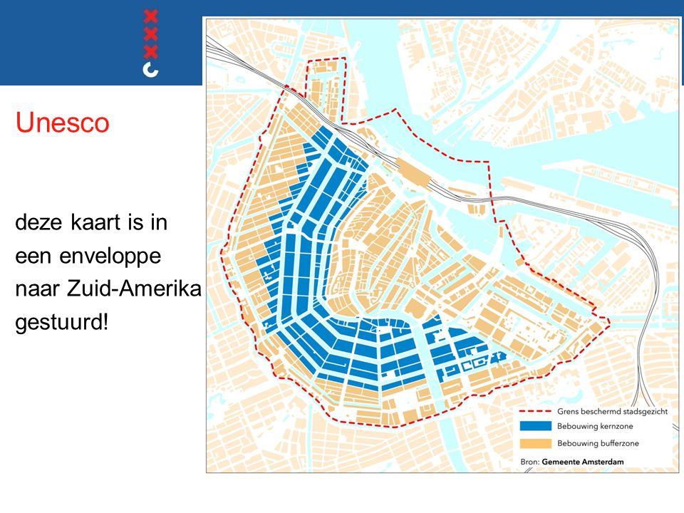 Unesco deze kaart is in een enveloppe naar Zuid-Amerika gestuurd!