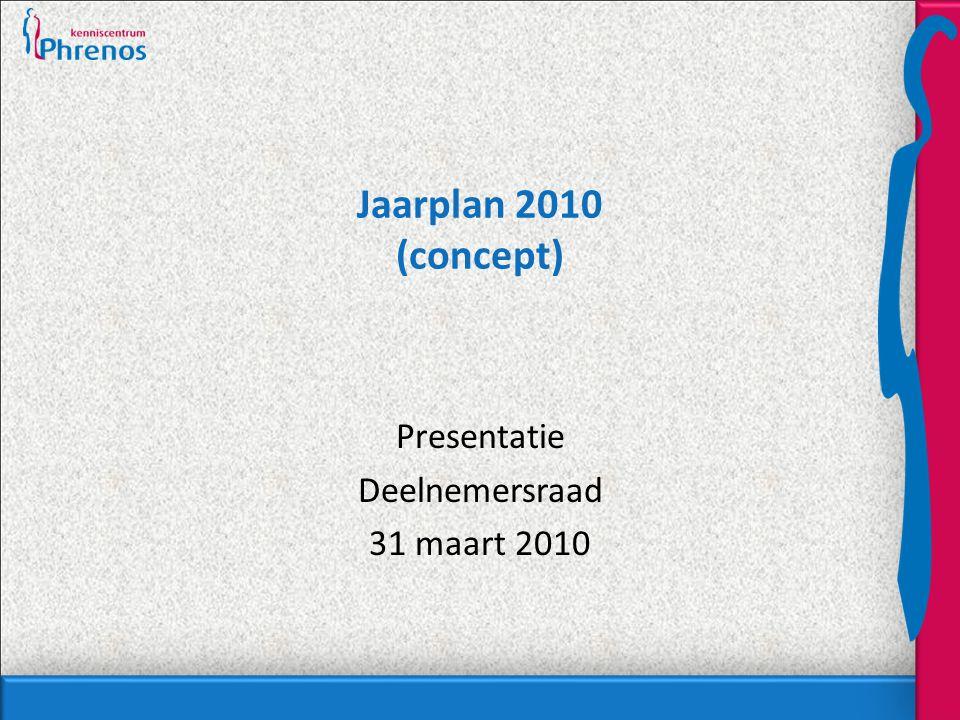 Jaarplan 2010 (concept) Presentatie Deelnemersraad 31 maart 2010