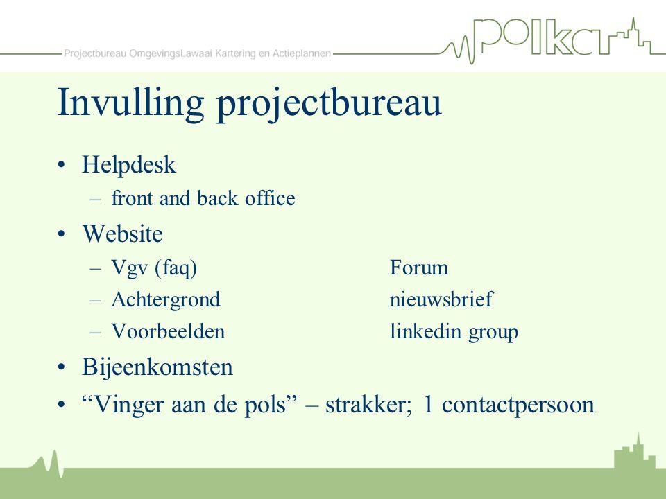 """Invulling projectbureau Helpdesk –front and back office Website –Vgv (faq)Forum –Achtergrondnieuwsbrief –Voorbeeldenlinkedin group Bijeenkomsten """"Ving"""