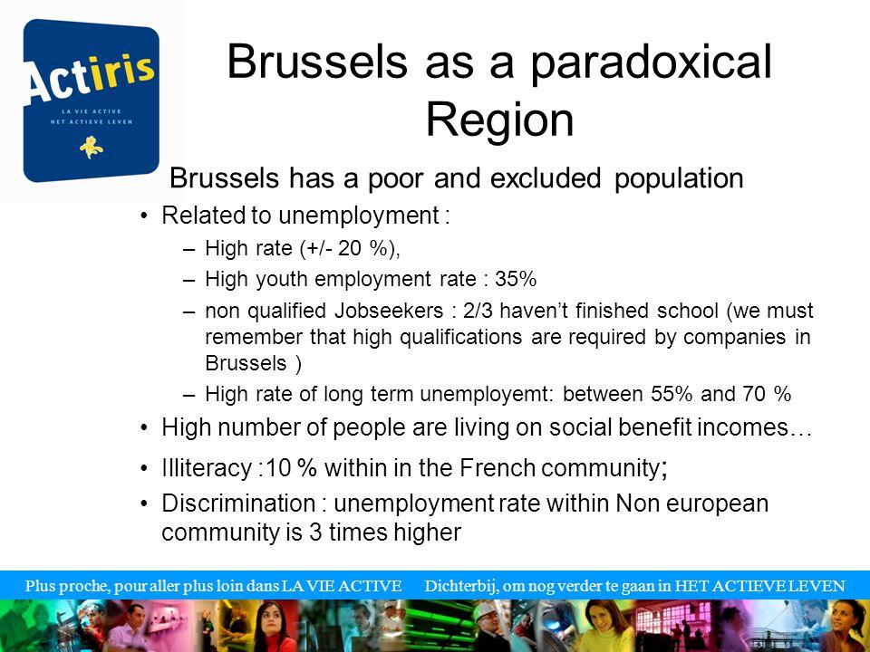 Plus proche, pour aller plus loin dans LA VIE ACTIVE Dichterbij, om nog verder te gaan in HET ACTIEVE LEVEN UNEMPLOYMENT RATE IN BELGIUM (2006)