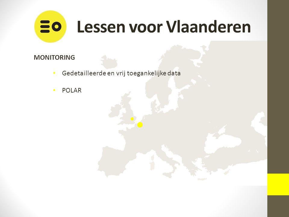 Lessen voor Vlaanderen MONITORING Gedetailleerde en vrij toegankelijke data POLAR