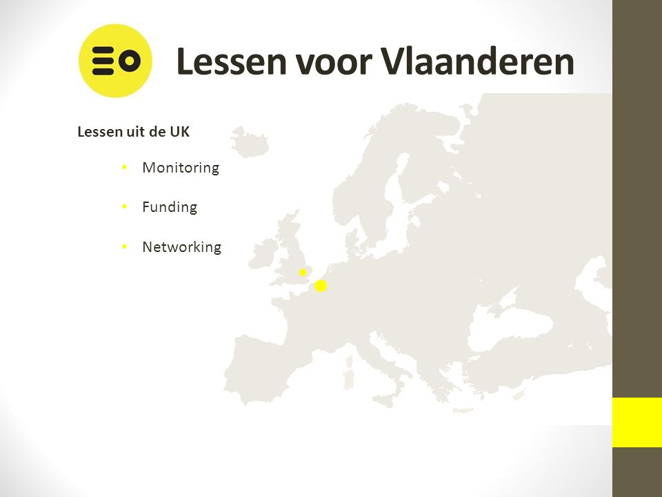 Lessen uit de UK Monitoring Funding Networking