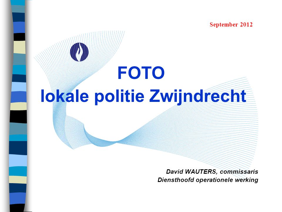 FOTO lokale politie Zwijndrecht David WAUTERS, commissaris Diensthoofd operationele werking September 2012