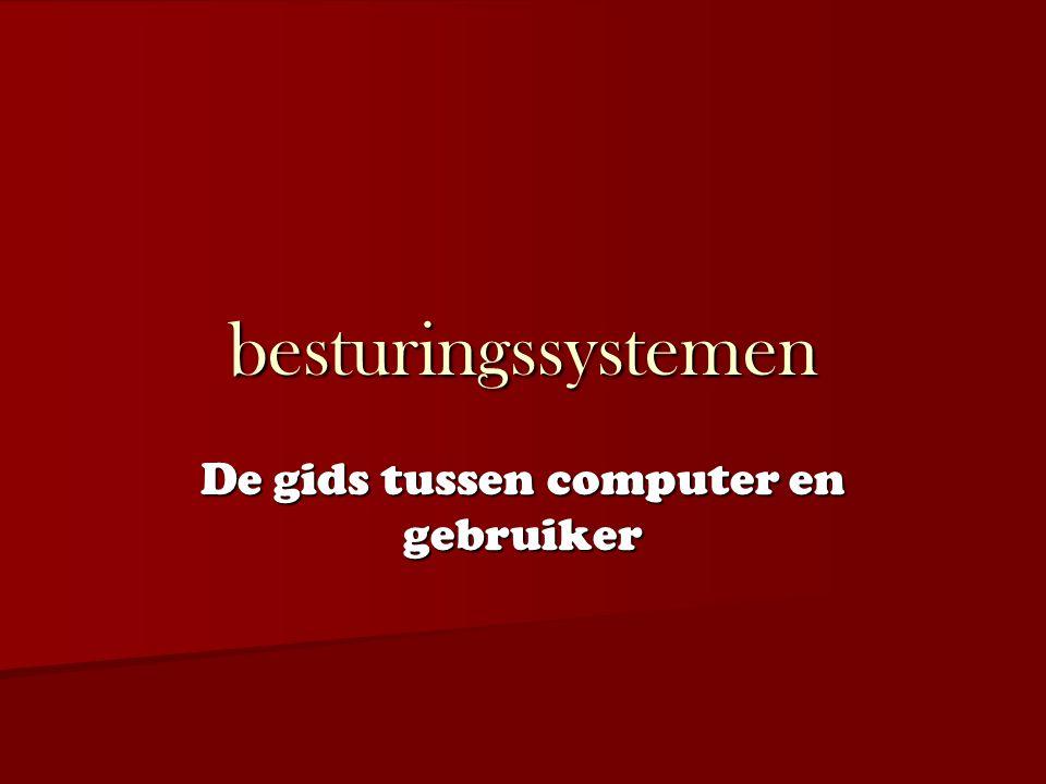 besturingssystemen De gids tussen computer en gebruiker