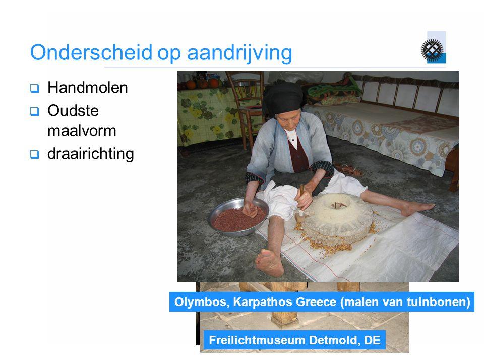 Avlona, Karpathos, Greece (kondalethos) Freilichtmuseum Detmold, DE Olymbos, Karpathos Greece (malen van tuinbonen) Onderscheid op aandrijving  Handm