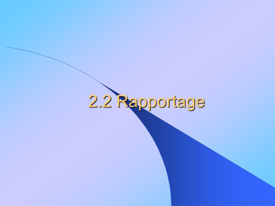2.2 Rapportage