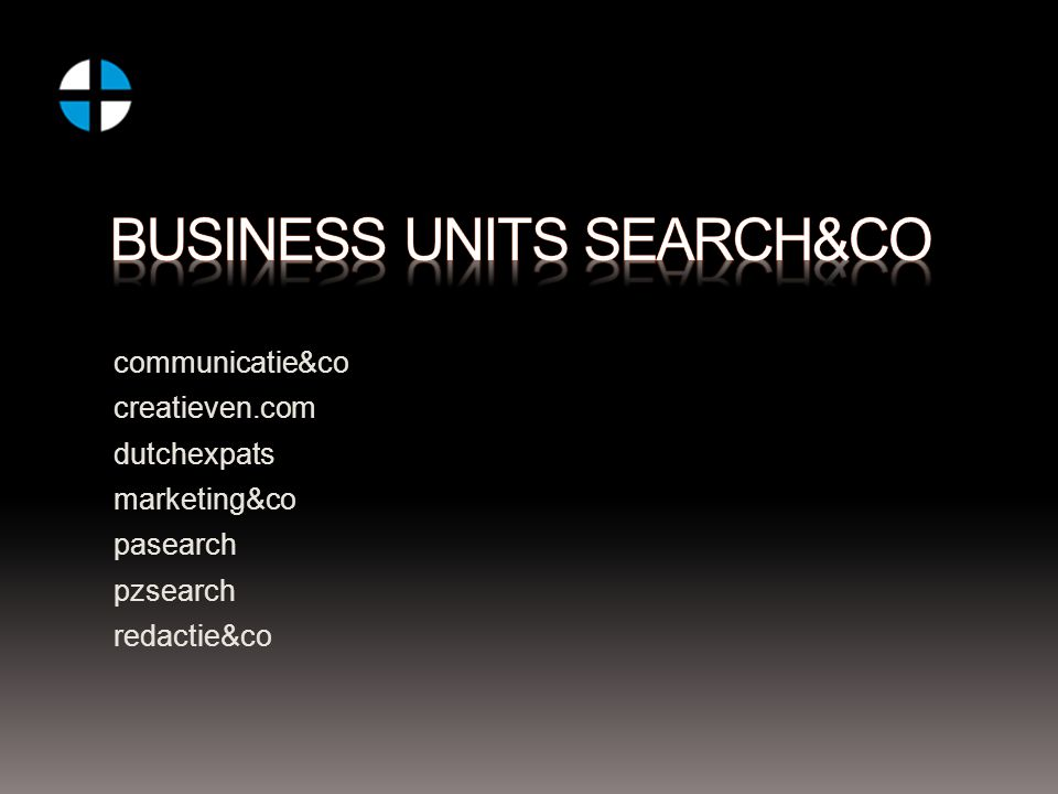 communicatie&co creatieven.com dutchexpats marketing&co pasearch pzsearch redactie&co