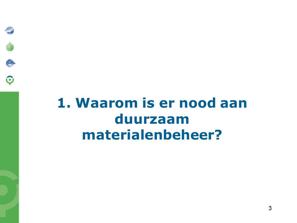 3 1. Waarom is er nood aan duurzaam materialenbeheer?