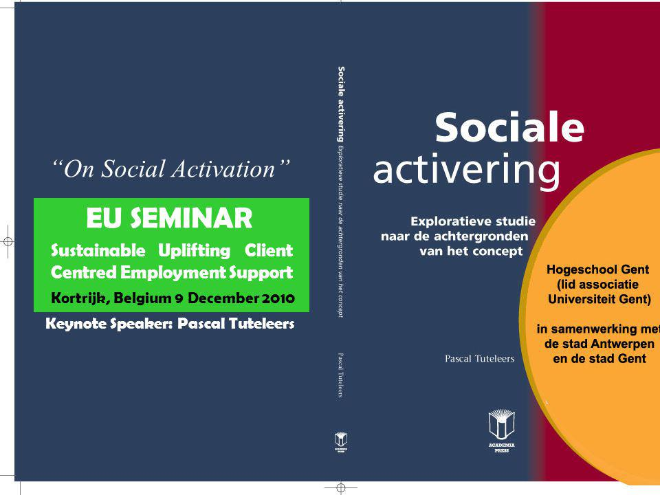 (1)Social activation as a state of actively seeking out (outreach) or specifically addressing people (2)Social activation as a way to intensify the deeper sense of issues living amongst people (3)Social activation as a way to develop leadership in one's own organization, their peer-network and/or the community (neighborhood) (4)Social activation as engaging in active citizenship (5)Social activation as a way of (self)advocacy.