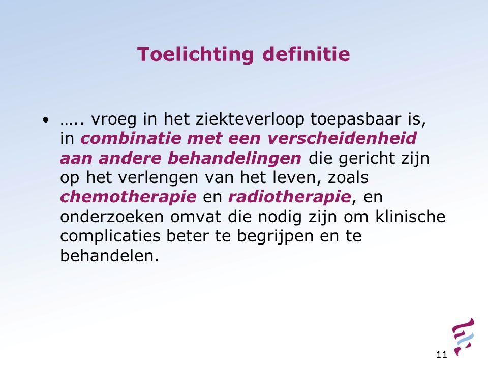 Toelichting definitie …..