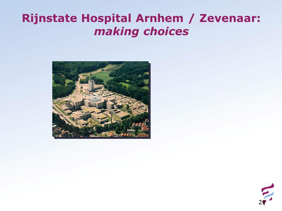 29 Rijnstate Hospital Arnhem / Zevenaar: making choices