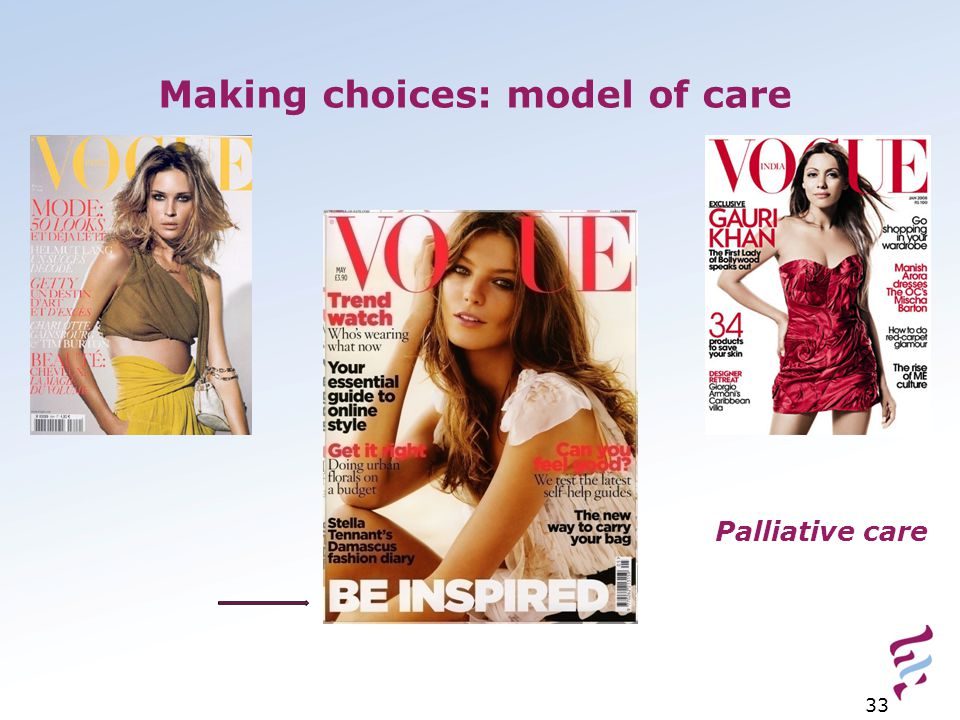 Making choices: model of care 33 Palliative care
