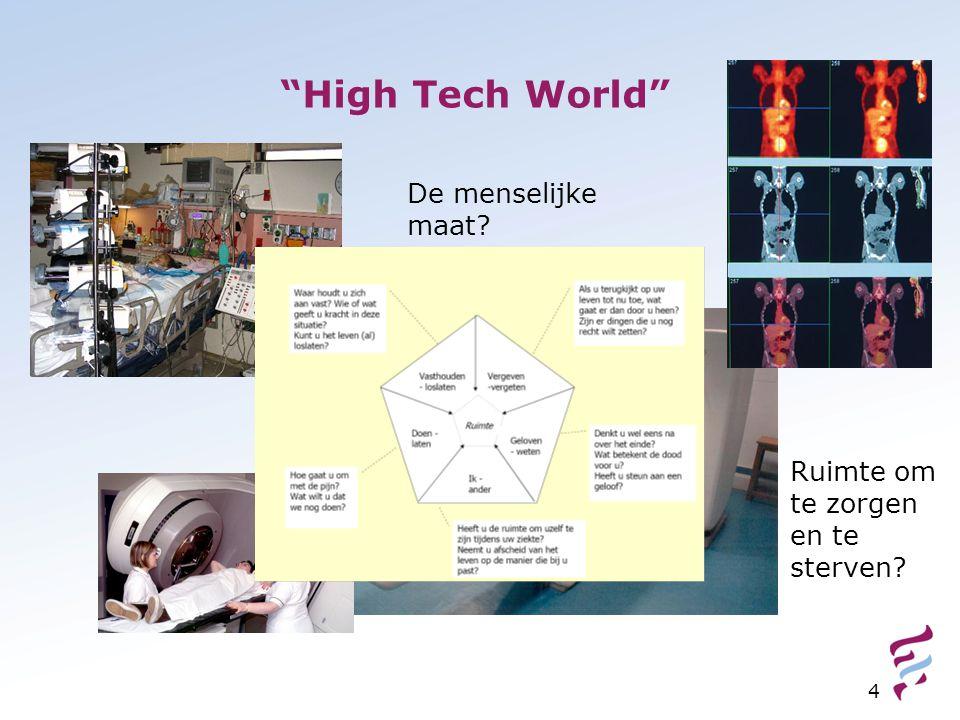 """""""High Tech World"""" 4 De menselijke maat? Ruimte om te zorgen en te sterven?"""