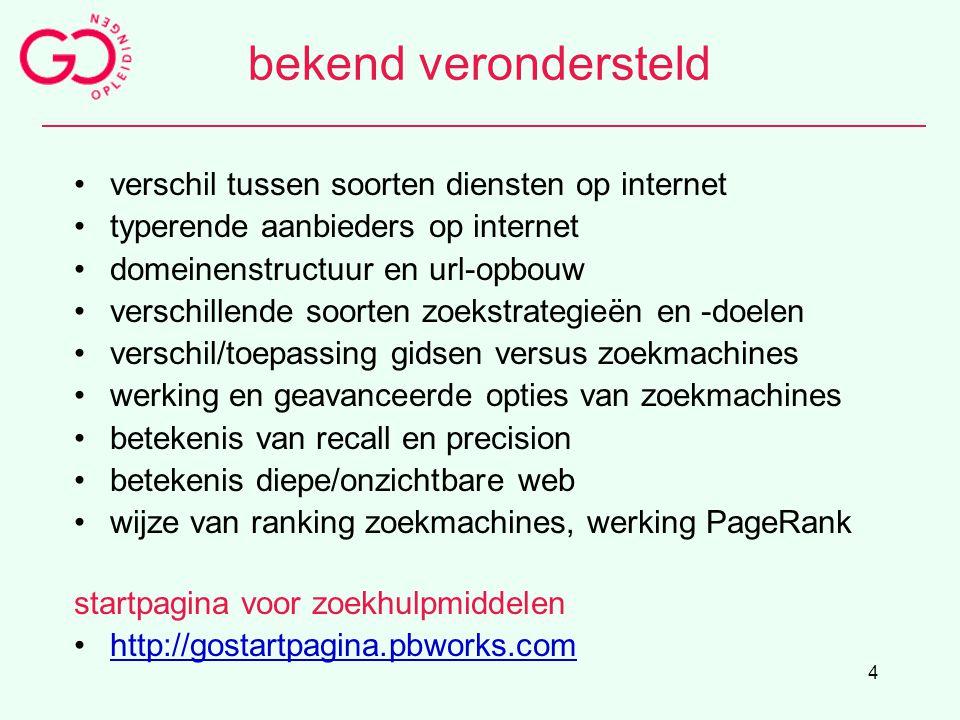 4 bekend verondersteld verschil tussen soorten diensten op internet typerende aanbieders op internet domeinenstructuur en url-opbouw verschillende soo