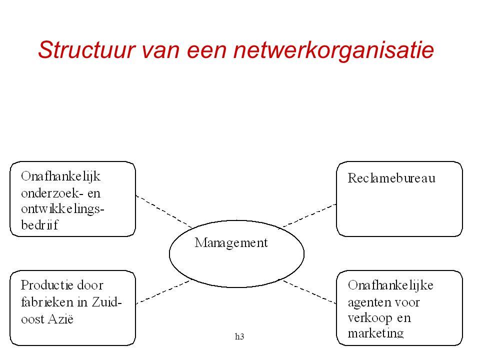 h336 Structuur van een netwerkorganisatie