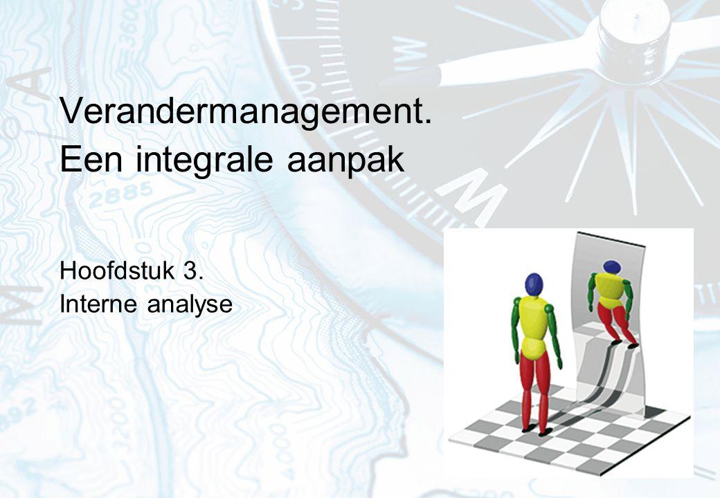 Verandermanagement. Een integrale aanpak Hoofdstuk 3. Interne analyse