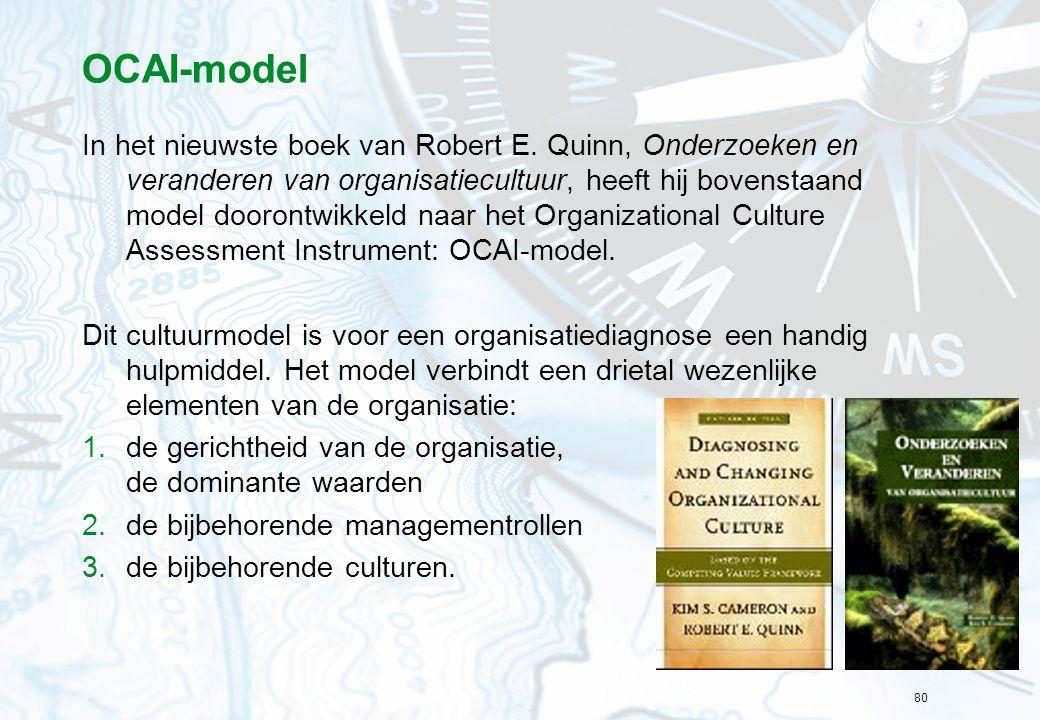 80 OCAI-model In het nieuwste boek van Robert E.