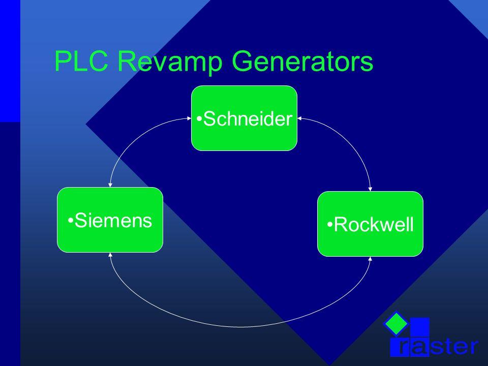 PLC Revamp Generators Schneider Rockwell Siemens