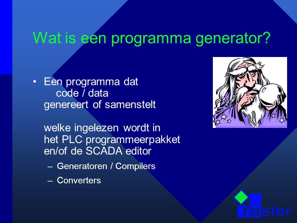 Wat is een programma generator.